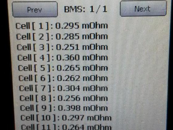 BMS Innenwiderstände