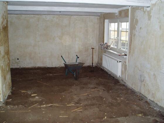 1 Bodenaushub Wohnzimmer