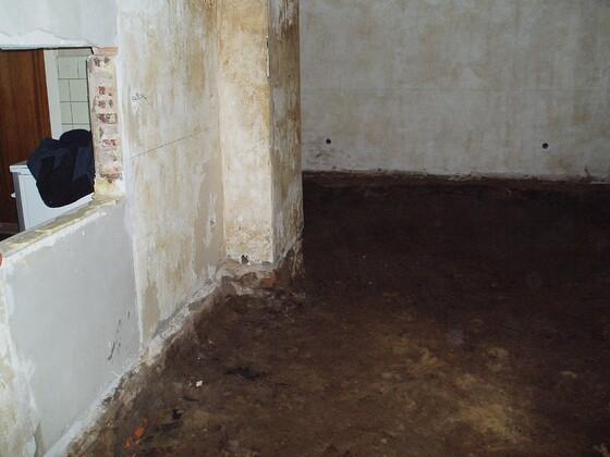 2 Bodenaushub Wohnzimmer